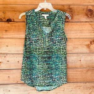 Dana Buchman sleeveless snakeskin print blouse